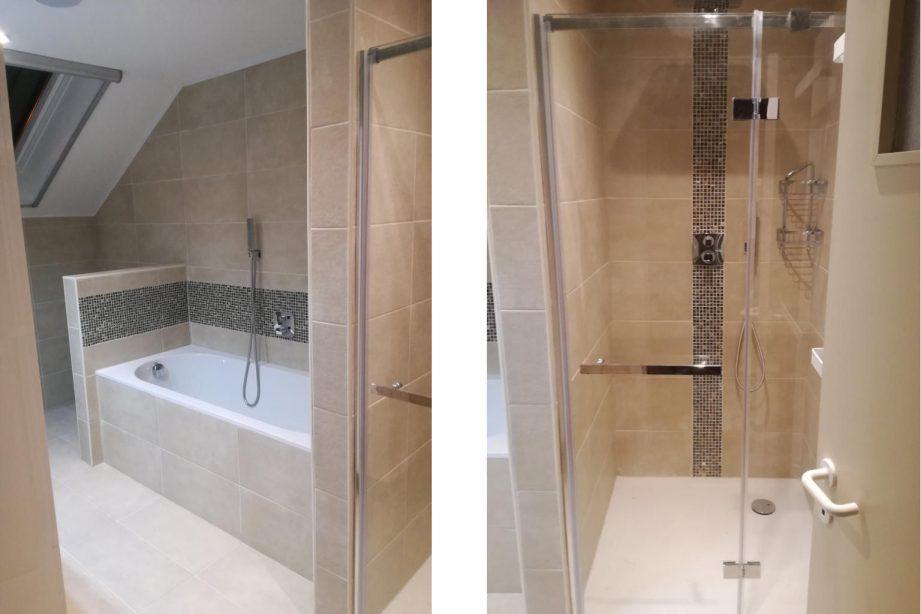SDProjects BVBA - Ruimte inrichten als badkamer - Na